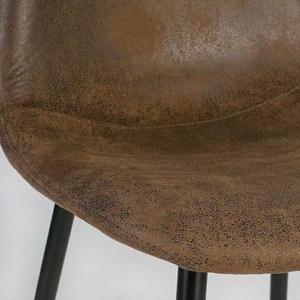 Charlton Chair - Suede Brown