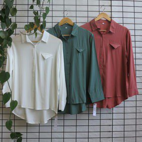 L/Sleeve pocket detail Blouse