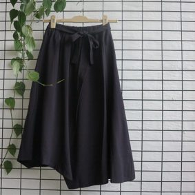 Elasticated skirt with pocket