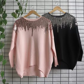 LSleeve Ribbed GLam Jersey